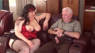 Fat slut getting fucked by an old man
