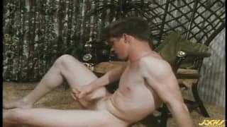 A tasty vintage wank with just Brad