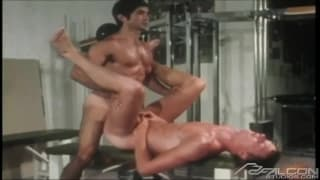 Vintage gay scene with hot young gays