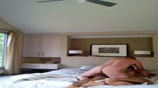 Cockpipe cosmonaut in randy bedroom fuck