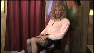 Cross dressing mature guys show what they have