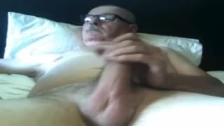 Fancy watching this mature guy jerk off?