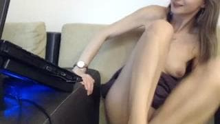 Hot blonde in Love butterfly cam show