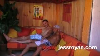 Jess sucks his straight best friends big dick