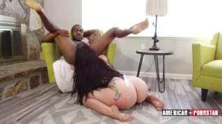 Black man fucking that slut very hard