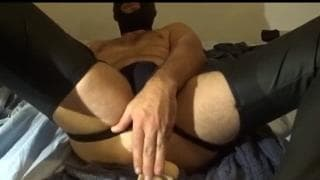 Anal fucking with a dildo 5 cm wide