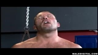 This muscular DILF gets a blowjob today