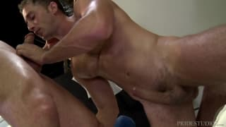 Muscle DILFs play with their cocks today!