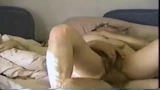 She puts all of him inside to make him cum