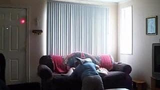 They enjoy making this porno on the sofa