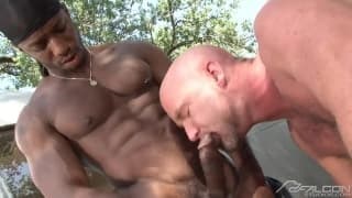 Race Cooper and Ty LeBeouf enjoying dick