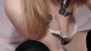 Hot lonely brunette showing her pussy live
