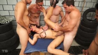 Gabi is in a super kinky gangbang today