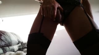 Shoving toys inside his asshole and wanking