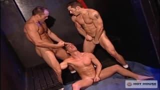 Nino Bacci with Paul Johnson and Trent Atkins