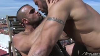 Alex Marte and Damien Crosse enjoy sucking