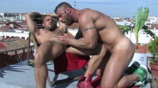 Alex Marte and Damien Crosse enjoy sucking