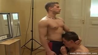 Two gay lovers sucking each other off
