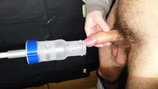 This guy has a sex machine to enjoy fucking