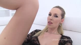 Jenny wants anal - one cock good, two is better