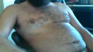 Hairy men who love to masturbate on webcam