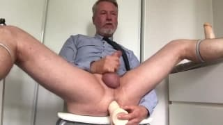 This old guy likes to masturbate hard