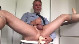This old guy likes to masturbate hard