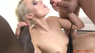 Brittany Bardot with two cocks in her ass