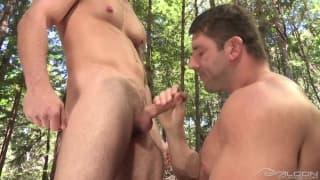 Chris Bines and Jeremy Walker enjoy sucking