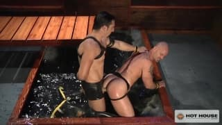 Jimmy Durano and Mitch Vaughn suck deeply