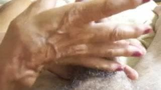 Mature woman sucks this old dick today