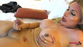 Madison has her dick in her hand to play