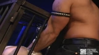 Jerek Eric Evans has his hand in an ass