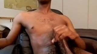 This black guy with a thick dick masturbates