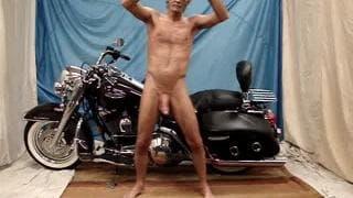 Male striptease likes to wear thongs