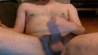 Masturbating on the couch in front of webcam
