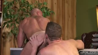 Wolf Hudson and Coby Mitchell licking arse