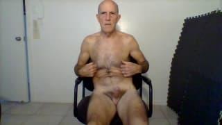 Bruce masturbates and begs to suck your cock