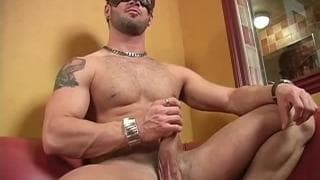 Manuel Deboxer jerking off alone on camera