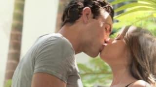 Romantic and sensual sex in the garden