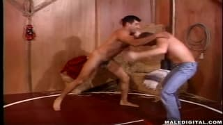 These guys love to wrestle together naked
