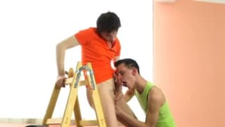 Paul Nowak and Benjamin Roth enjoy sucking