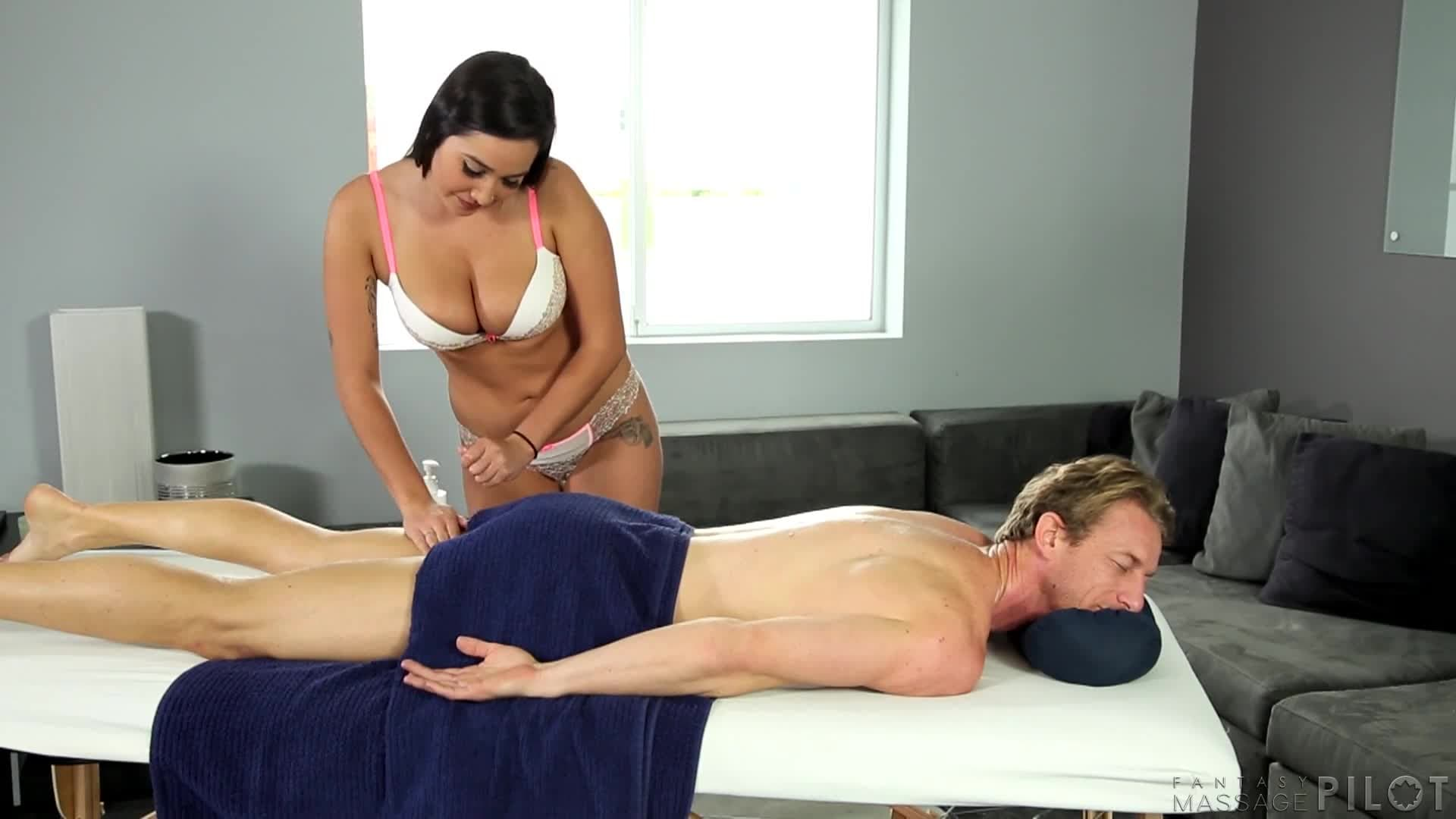 Step Son Gives Mom Massage