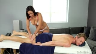 Karlee gives step bro a massage with benefits