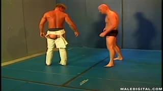 Tom Moore wrestles his horny friend