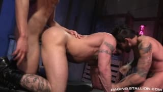 Draven Torres with Derek Parker and a mate
