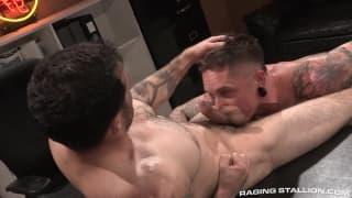 Jake Jammer and Ryan Patrix sucking deeply