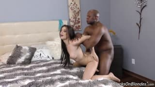 Hot naughty slut and big black cock
