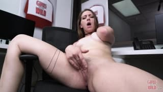 Girls Have Orgasms At the Office Building