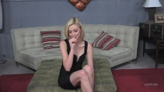 Haley Reed in giant anal toys experience